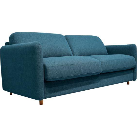 Canape 4 Places Convertible En Tissu Bleu Alinea En 2020 Canape 4 Places Tissu Bleu Et Canape Convertible