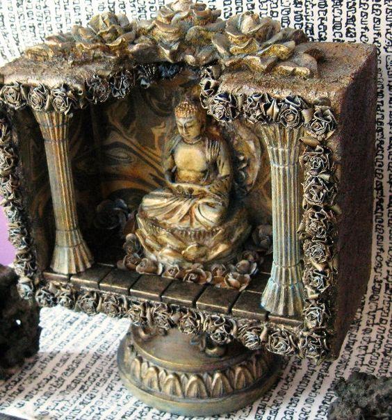 Buddhist Altars For Sale: Take 10% Off. DEEP PEACE Buddha Shrine Wooden Box On