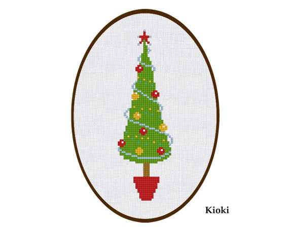 SALE Cross Stitch Pattern Christmas Tree Instant by TinyNeedle