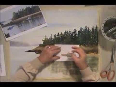 Magic Eraser Watercolor Trick
