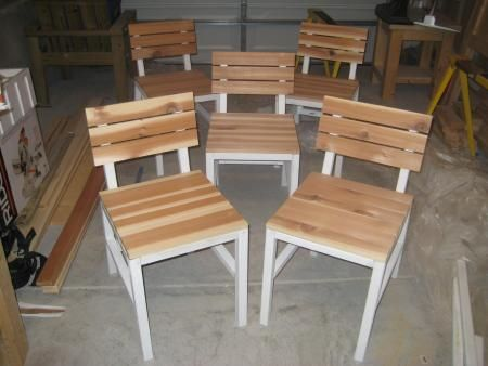 DIY $20/Chair! Harriet Outdoor Dining Chair with Cedar Slats | Do It Yourself Home Projects from Ana White