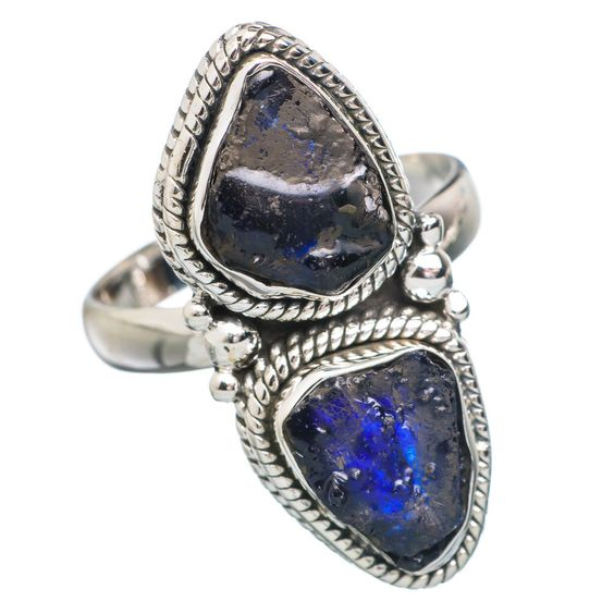 Glass Filled Sapphire 925 Sterling Silver Ring Size 8.5 RING753840
