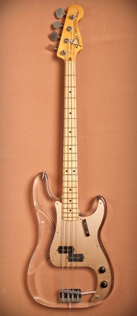 John Entwistle of the WHO, Fender custom Lucite P-Bass......