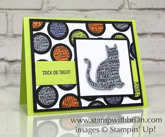 Spooky Cat, Seasonal Chums, Stampin' Up!, Brian King, fun Halloween card