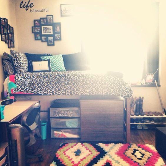 Tcu dorm room kenzie floyd moncrief hall room for Cute college apartment bedroom ideas