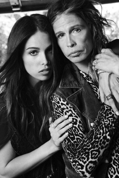 Steven Tyler and his daughter Chelsea posing for the Andrew Charles ...