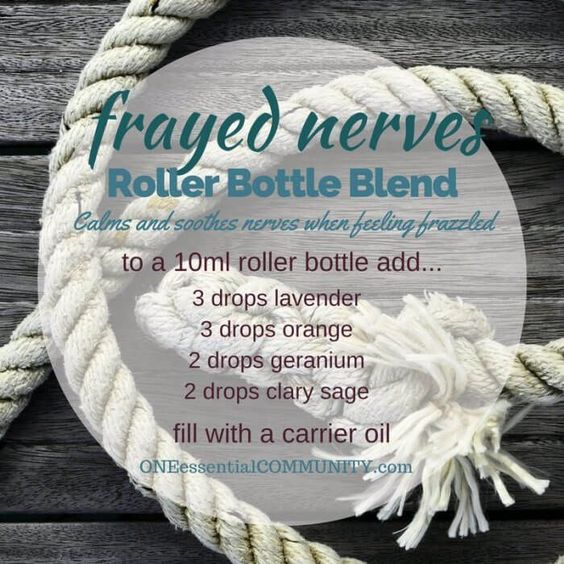 """""""frayed nerves"""" roller bottle blend calms and soothes nerves when you're feeling…"""