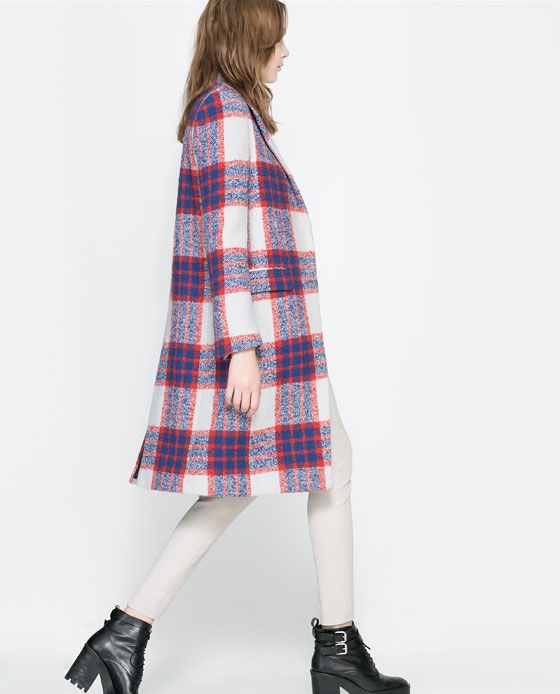 Checked Coat at Zara. I'm in love with this.
