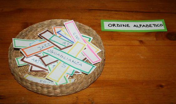 Insegnare l'uso del dizionario col metodo Montessori – Lapappadolce