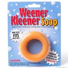 This Weener Kleener Soap Weiner Cleaner - Joke Gag Gift Party Adult Gag Prank is available for purchase for $6.64 for another 8d 2h