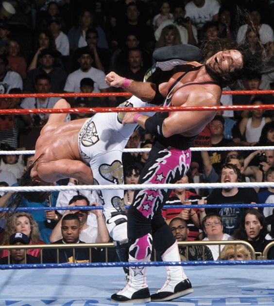"""Shawn Michaels vs Bret Hart: Wrestlemania XII... Some call it a """"Superkick"""" but I like """"Sweet Chin Music!"""""""