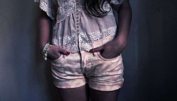 Will have to try!   ☩DIY☩ 7 For All Mankind Carlie Ikat Shorts