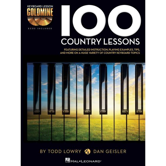 100 Country Lessons : For the Keyboard (2 CD's INCLUDED!)