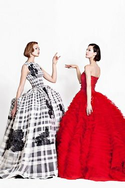 Christian Dior Haute Couture s/s 2012, Frida Gustavsson and Aymeline Valade
