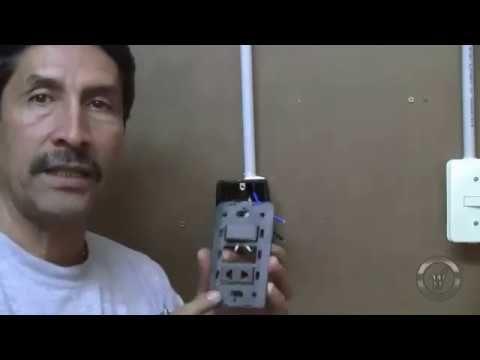 Como Instalar Interruptor Y Enchufe Mixto Instalaciones Domiciliarias Enchufe Interruptor Instalación Electrica