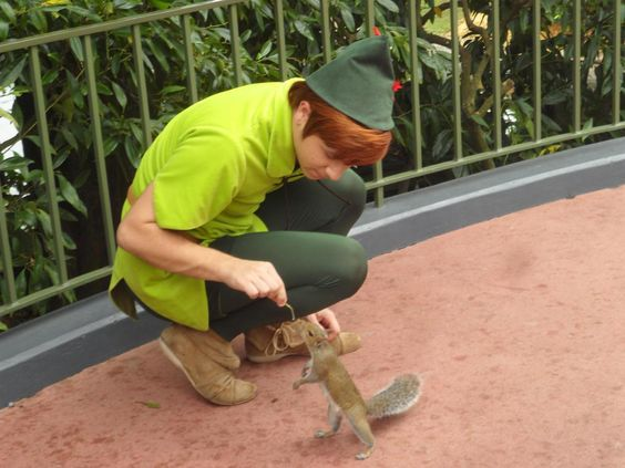 Peter Pan meets squirrel