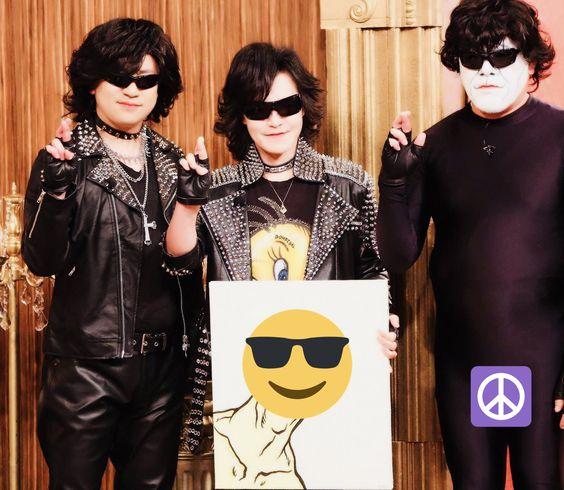 X JAPANのトシとくっきー