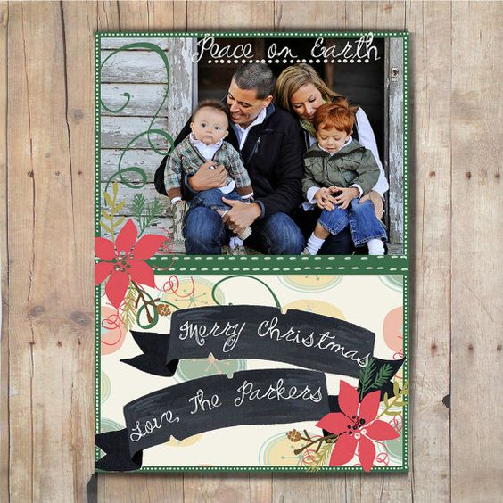 Digital Christmas Card, with pictures