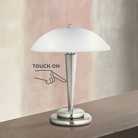 Seaside Village Touch Control Crystal Table Lamp In 2020 Crystal Table Lamps Nightstand Lamp Table Lamps For Bedroom