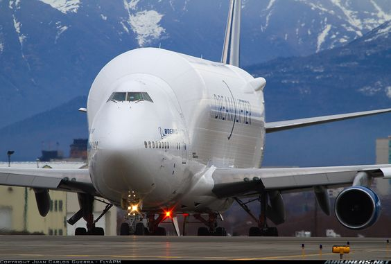 """This is the Boeing Large Cargo Freighter (LCF) or """"Dreamlifter"""", which are converted Boeing 747-400"""