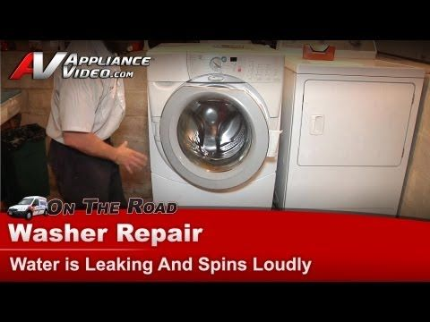 Whirlpool Kitchenaid Kenmore Washer Is Leaking And Has A Loud Spin Ghw9400pw4 Youtube In 2020 Kenmore Washer Whirlpool Washer Kenmore