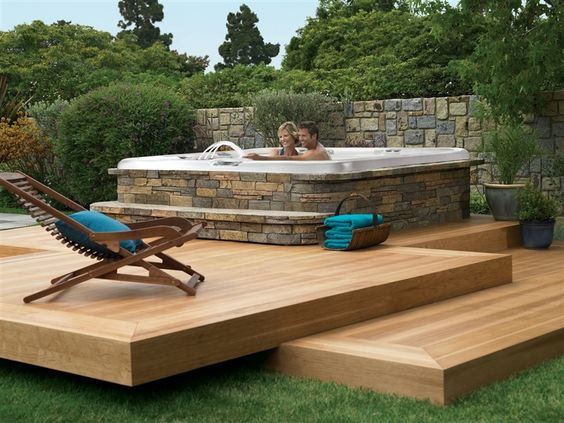 Hot Tub Installation Ideas Backyard Deck Designs Portable Spas Outdoor Hot Tubs Hot Spring Spas Hot Tub Backyard Hot Tub Landscaping Hot Tub Deck