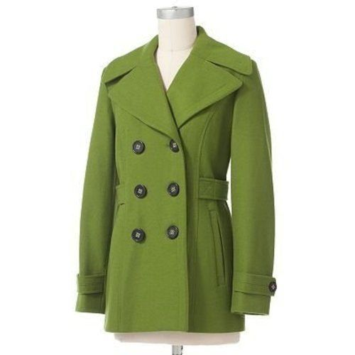 Apt 9 Womens Peacoat Lime Green Size L $220 | eBay | Coats/Jackets