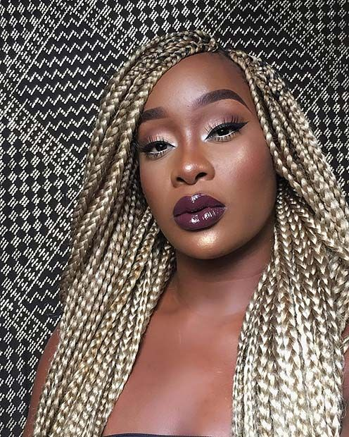23 Cool Blonde Box Braids Hairstyles To Try Page 2 Of 2 Stayglam Blonde Box Braids Box Braids Hairstyles Box Braids Pictures
