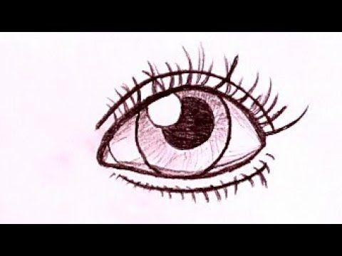 رسم سهل وكيوت رسم عين سهله وبسيطة رسومات سهله وجميلة تعلم رسم العين بالقلم الرصاص Youtube Art