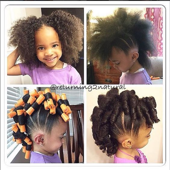 Kids with natural hairstyles