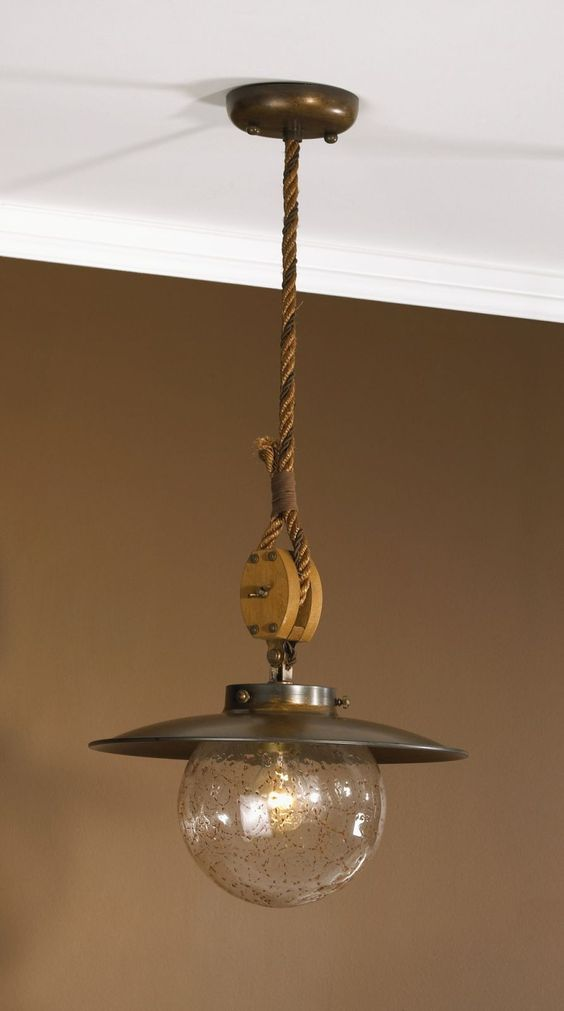 Nautical/Tropical Lighting & Fans - Nautical Style - Nautical Chandeliers - Cadernal - Cadernal Pendant Light Small