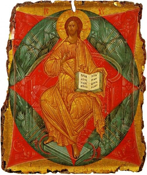 """Christ Enthroned in Glory"" by Andrei Rublev"