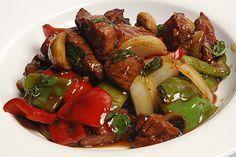 Gemüsepfanne mit Rind in Teriyaki-Soße  Sie mögen Ihr Fleisch oder Gemüse…