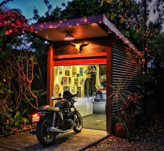 Cafune Motorcycle Storage Shed