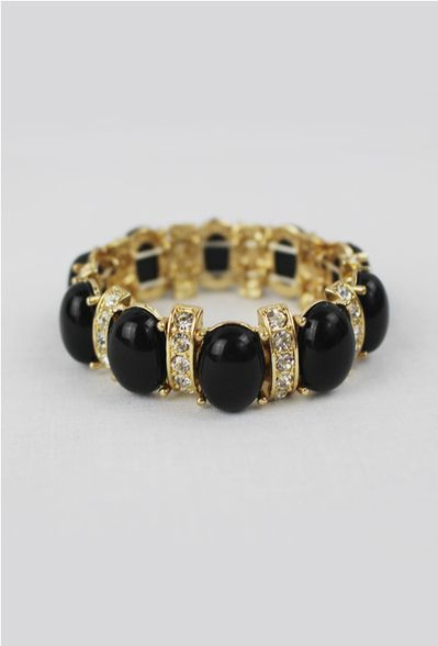 Oval Bracelet in Noir