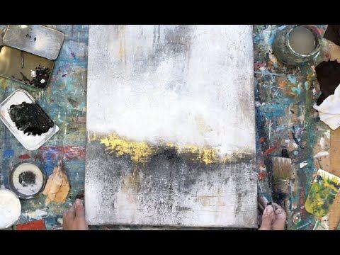 abstraktes bild in acryl mit folie struktur anleitung anfanger mixed media art youtube abstrakte bilder abstrakt acrylmalerei wandbilder kunst malen nach zahlen