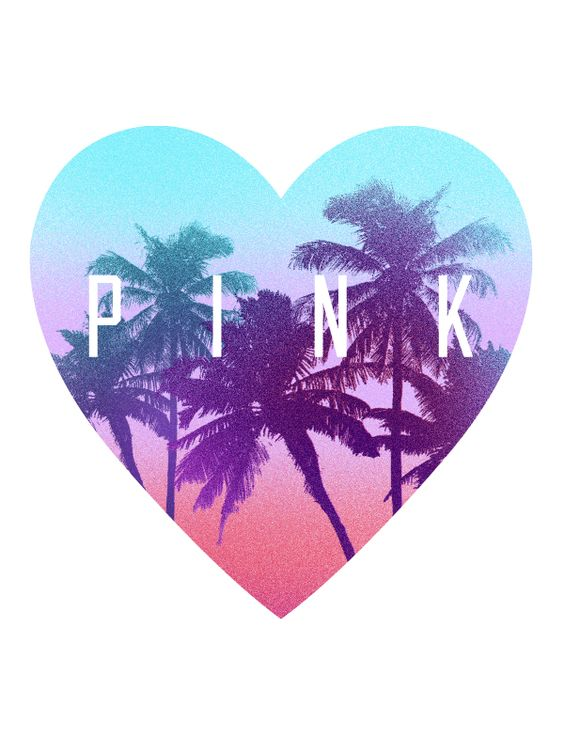 VS Pink - palm trees