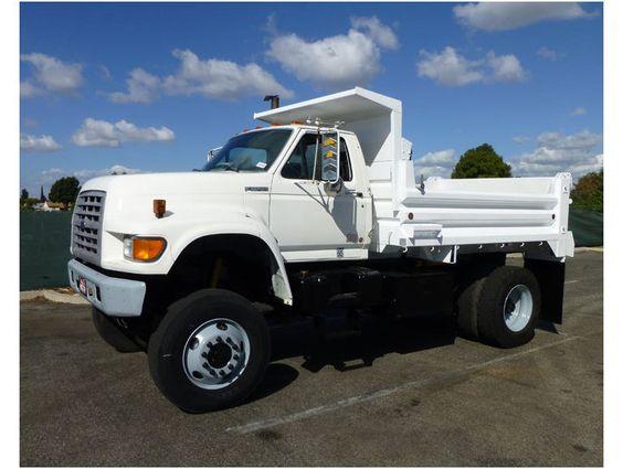 4x4 5yard Dump Trucks 1998 Ford F800 Single Axle Dump Truck