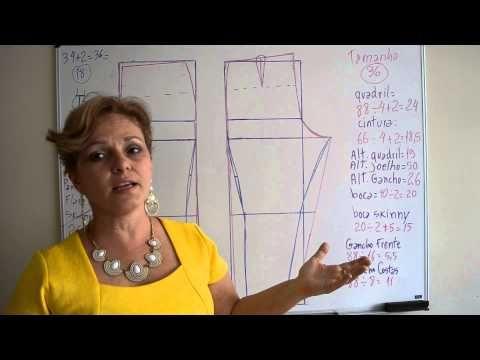 Modelagem de Calça Skinny, Flare e Pantalona - Aula 8 - YouTube