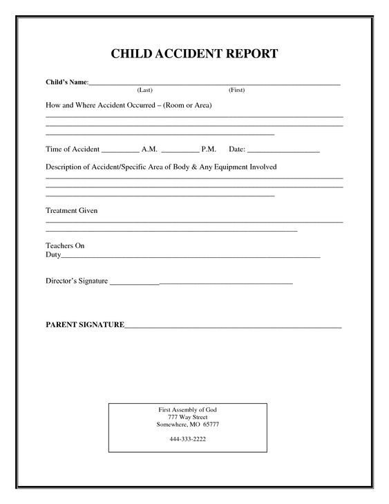 incident report form child care Click on the form to view and - incident report template free