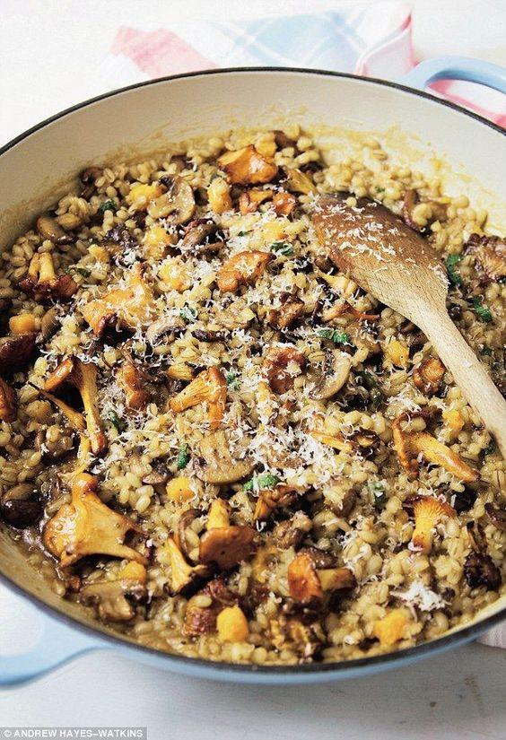 Davina McCallBarley risotto with mushrooms and butternut squash