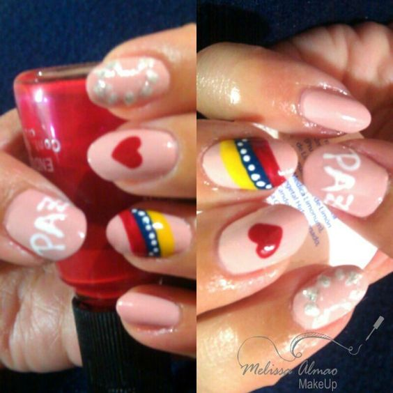 Nail art i love Venezuela