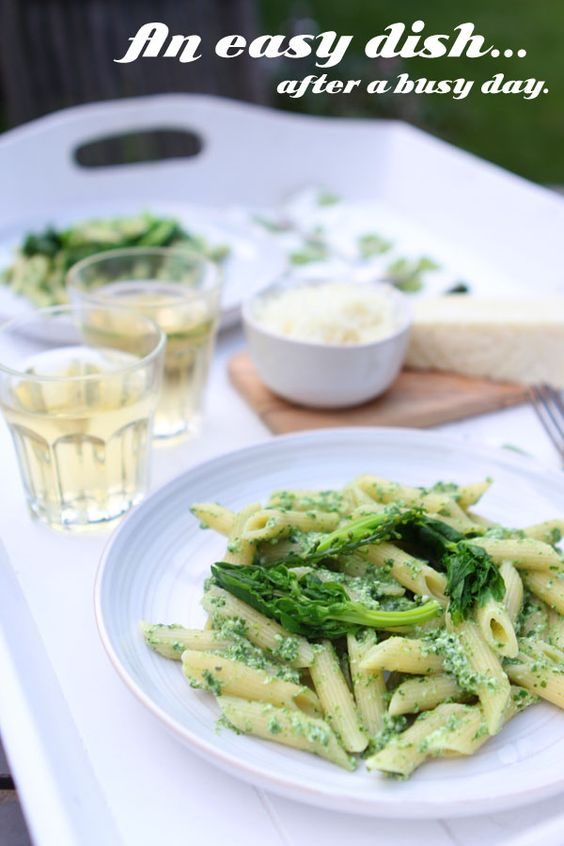 spinach and ricotta penne