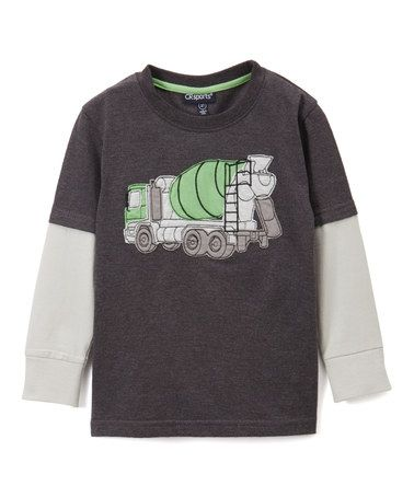 Look what I found on #zulily! Charcoal Twist Cement Truck Tee - Infant, Toddler