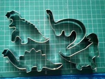 Aço inoxidável 4 pçs/set dinossauro Animal Fondant bolo biscoito cortador decoração Mold Mould ferramentas pastelaria panificação Loja Online | aliexpress móvel
