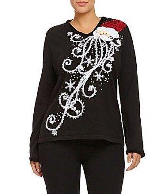 Berek Jeweled Christmas Tree Sweater Dillards