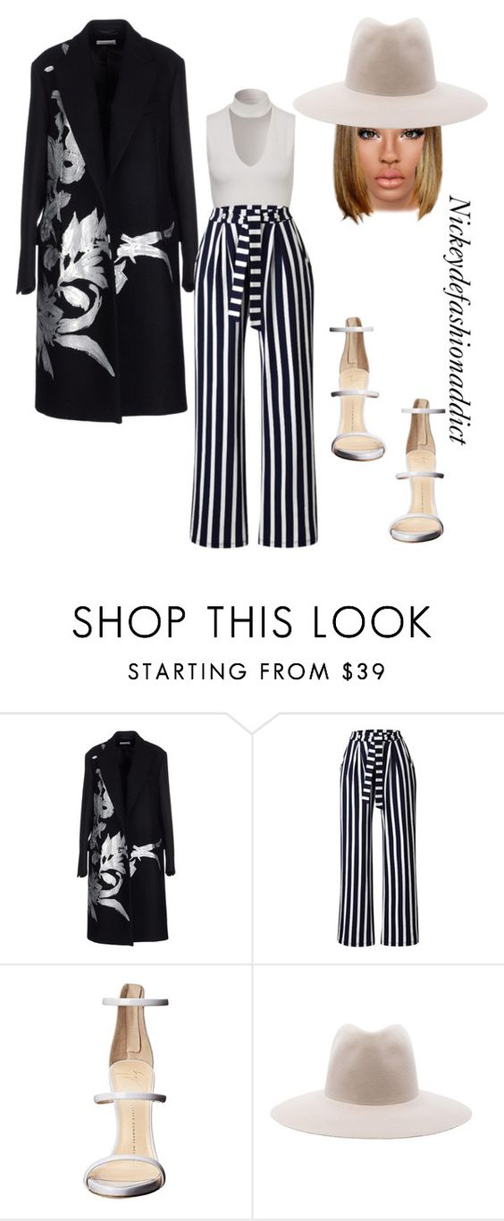 """Untitled #1532"" by stylesbynickey ❤ liked on Polyvore featuring Dries Van Noten, Giuseppe Zanotti and Clyde"
