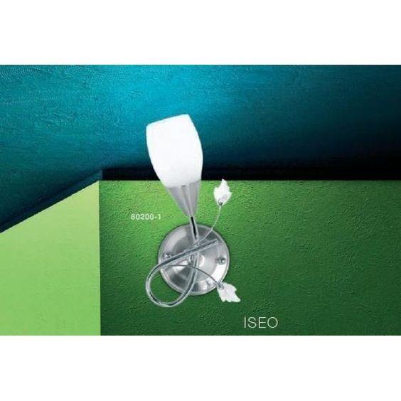 Globo ISEO Wandleuchte Chrom, Edelstahl, Nickel-Matt, Weiß 60200-1