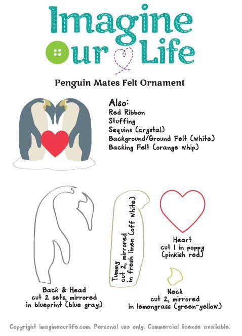 Polar Family Felt Ornament Patterns – Penguins & Polar Bears | Imagine Our Life