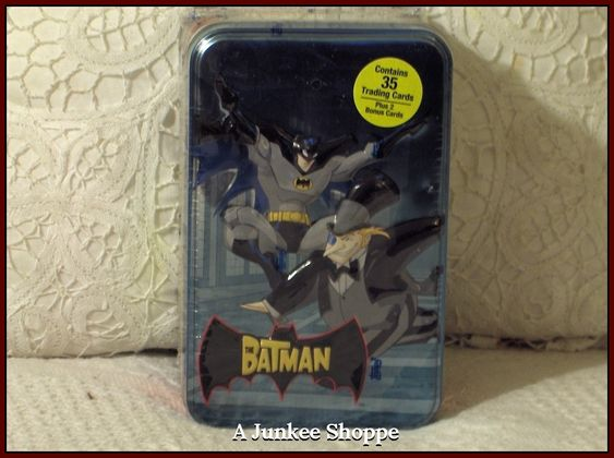 THE BATMAN Cartoon Network 2004-2008 Animated 35 Trading Card Set In Sealed Tin  Junk 714 http://ajunkeeshoppe.blogspot.com/